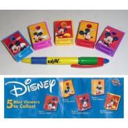 TOMY Set 5 Mini Proiettori TOPOLINO Mickey Mouse BOOK Viewers DISNEY