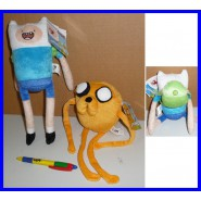 COPPIA 2 Peluche 30cm FINN e JAKE ADVENTURE TIME Originali CARTOON NETWORK NUOVI