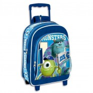 Valigia TROLLEY Zaino MONSTERS UNIVERSITY Inc 36x27cm Ufficiale DISNEY Nuovo NEW