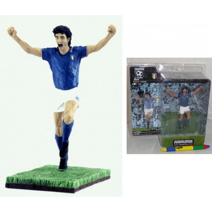 Figura PAOLO ROSSI 18cm Calcio FANATICO Legends SERIE 1 Italy Team FIGURE Mint !