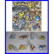 Set 8 Figure Laccetto POKEMON BACK TO JOHTO Danglers Raikou Piplup Eevee TOMY