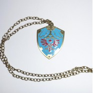 LEGEND OF ZELDA Ciondolo Metallo SCUDO Shield COLLANA Pendant NECKLACE Blister