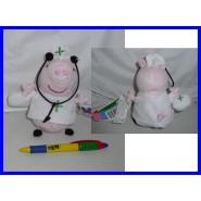 Stupendo Peluche PEPPA PIG INFERMIERA 15cm CON SONORO VERSO Originale NUOVO NEW