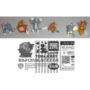 RARE Set 6 MINI FIGURES with Danglers TOM and JERRY Japan TOMY