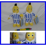 COUPLE 2 Plush 20cm BANANAS IN PYJAMAS Original