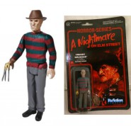 NIGHTMARE Figura Action FREDDY KRUEGER 10cm Funko ReACTION Horror Figure NUOVA