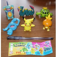SET 6 Figure POKEMON ADVANCED Tomy ORIGINALI Pikachu Torchic Seviper Wynaut NEW