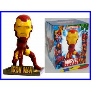 MARVEL Figura 18cm IRON MAN Bobble Head NUOVA Originale Bobble Buddies
