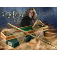 Harry Potter BACCHETTA Magica HERMIONE con BOX di OLIVANDER Originale NOBLE COLLECTION Ollivander