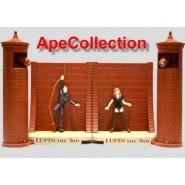 SET 2 DIORAMI Figure LUPIN FUJIKO FUGA dalla PRIGIONE Luci Suoni BANPRESTO Japan