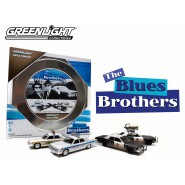 BOXED SET 4 Modellini Auto 1:64 Blues Brothers BLUESMOBILE Limited GREENLIGHT