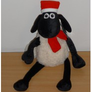 Plush SHAUN THE SHEEP with SCARF and HAT Xmas 35cm ORIGINAL