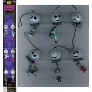 SET 6 Figure/Ciondoli CON LUCE Nbx NIGHTMARE BEFORE XMAS Yujin JAPAN