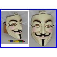 MASCHERA Guy Fawkes V PER VENDETTA Carnevale ANONYMOUS OCCUPY Indignados ANONIMO