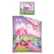 MY LITTLE PONY Set Letto CASTELLO Hasbro 160x200 Reversibile COPRIPIUMINO Federa