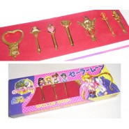 SAILOR MOON Rare BOX Set 7 PENDANTS SCEPTER LUNAR Time Key
