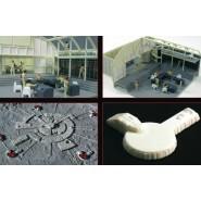 SPAZIO 1999 Modello KIT Nave BASE LUNARE ALPHA 1/3200 MPC Round2 Space Moon Base