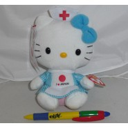 Plush HELLO KITTY Nurse I LOVE JAPAN 16cm ORIGINAL TY