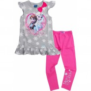SET Completo T-SHIRT e LEGGINGS Disney ELSA ANNA Principesse FROZEN Originale