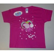 PEPPA PIG T-Shirt PRINCIPESSA CUORI Ufficiale ORIGINALE Varie Taglie Maglietta