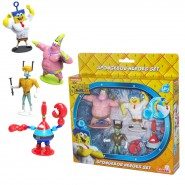 BOX SET4 Figure SPONGEBOB HEROES Fuori Acqua Movie SIMBA Patrick Squiddy Mr Crab