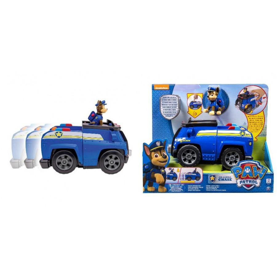 PAW PATROL Playset Vehicle CHASE CRUISER Deluxe Version SOUNDS LIGHTS Spin Master 6023997