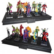 EAGLEMOSS MARVEL Offerta LOTTO 10 Personaggi + BASE Figure Avengers HEROES Mint