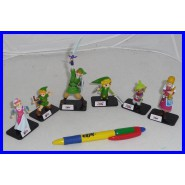 Complete SET 6 Figures THE LEGEND OF ZELDA Videogame TOMY Gashapon Trading