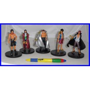 ONE PIECE Complete SET 5 FIGURES Collection 10cm BASE NERA Rufy Shanks Ace Edward