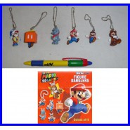 SET 6 Figure MARIO 3D LAND DANGLERS Laccetto Tanooki TOMY GASHAPON