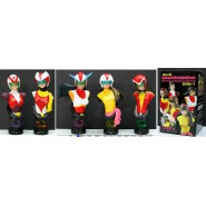 RARE Set 5 Figures BUSTS of ROBOT PILOT GIRLS Dynamic JAPAN Goldrake Mazinga