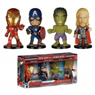 THE AVENGERS Set 4 FIGURE Mini BOBBLE HEAD Originale FUNKO Iron Man Thor Hulk