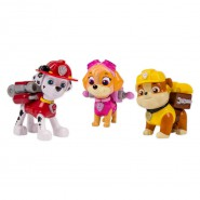 PAW PATROL Set 3 FIGURE Action MARSHALL RUBBLE SKYE Originali SPIN MASTER Nuove