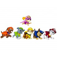 PAW PATROL Box SET 6 Figure 5cm PUP BUDDIES Personaggi SPIN MASTER Originali
