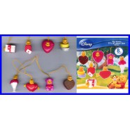 TOMY SET 8 Figure WINNIE POOH It's all about LOVE 2010 Mini Winnies Peek a Pooh