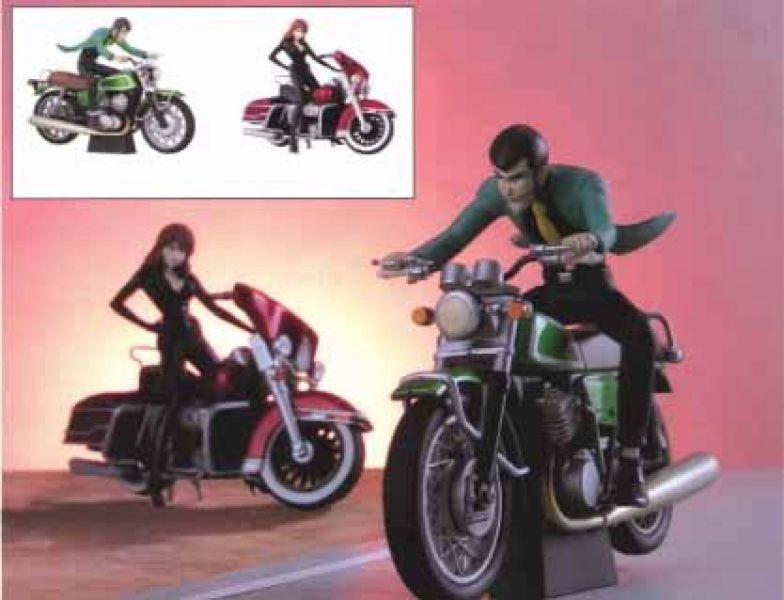 Lupin rd rara figura fujiko in moto figure and bike