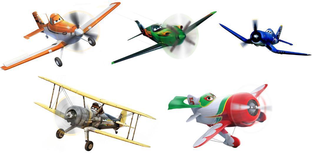 Planes 1 E 2 Modellino Aereo Scala 1 55 Mattel Originale