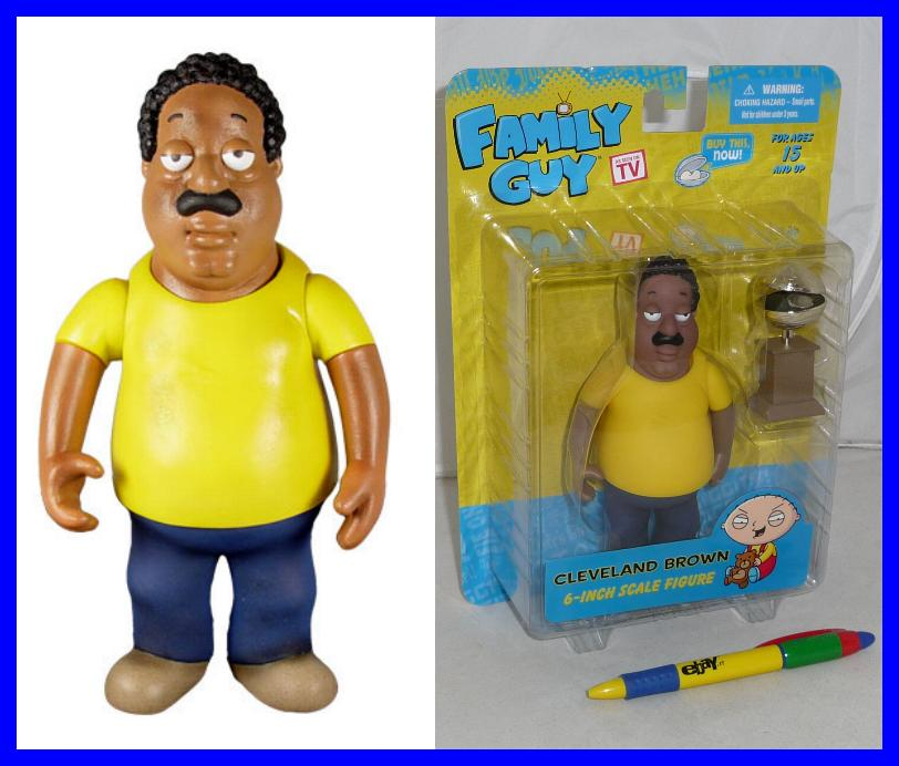 Cleveland Family Guy Toys : Griffin figura action cleveland brown con trofeo cm