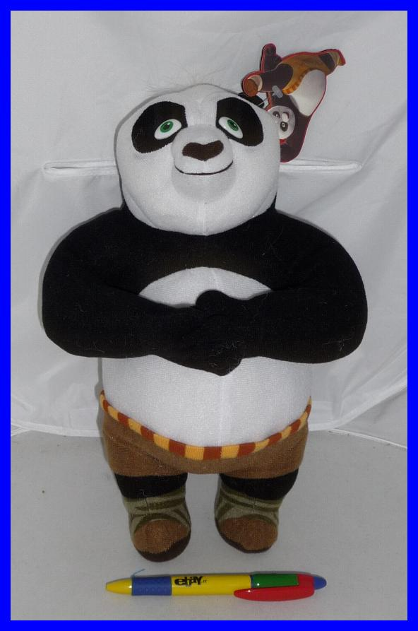 kung fu panda 2 stupendo peluche panda po 30cm nuovo originale ufficiale offerta ebay. Black Bedroom Furniture Sets. Home Design Ideas