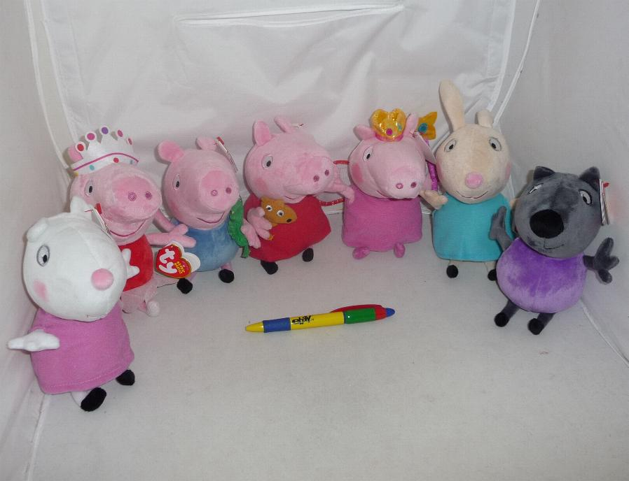 stupendo peluche peppa pig 16cm originale ufficiale ty. Black Bedroom Furniture Sets. Home Design Ideas