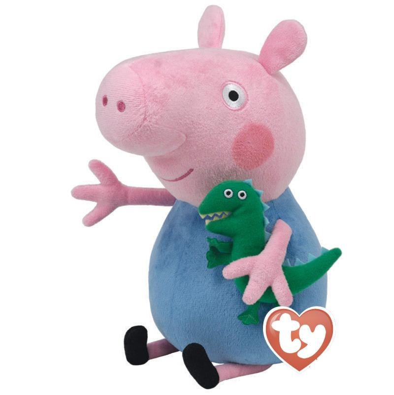 peppa pig peluche george e dinosauro xl grande 50cm originale ty enorme gigante. Black Bedroom Furniture Sets. Home Design Ideas