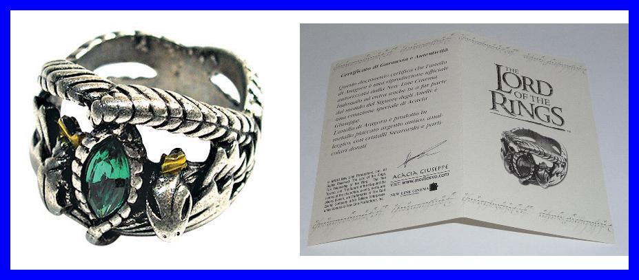 Lotr Lord Rings Aragorn Ring Barahir Silver Official With