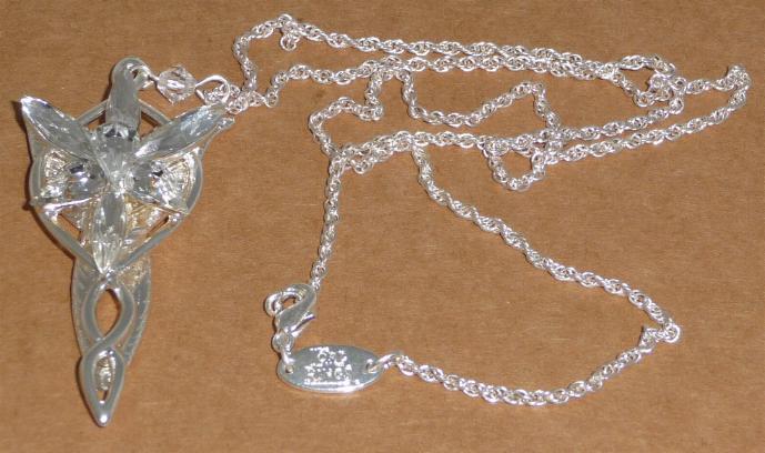 Lotr Lord Rings Arwen Pendant Evenstar Silver Official