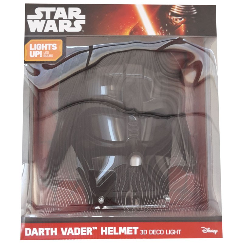 DARTH Fener VADER Maschera LAMPADA LED Muro STAR WARS 3D LIGHT Philips ...
