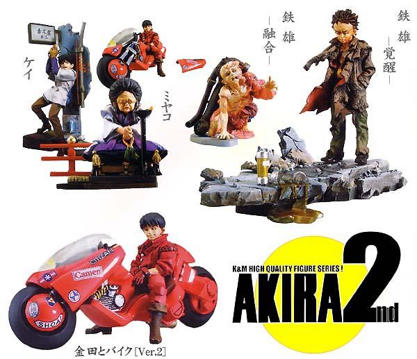 RARO Set 5 cifra modellolini AKIRA PART 2 Originali KAIYODO Japan Trading cifras